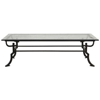 Glass & Wrought Iron Coffee Table