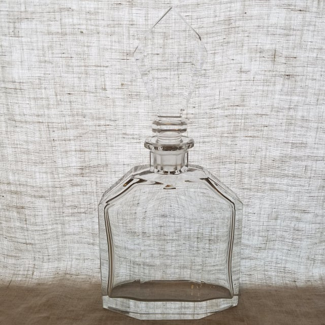 Vintage Geometric Crystal Decanter & Stopper - Image 8 of 8