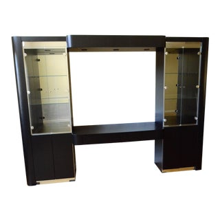 Black Retro Modern Wall Unit