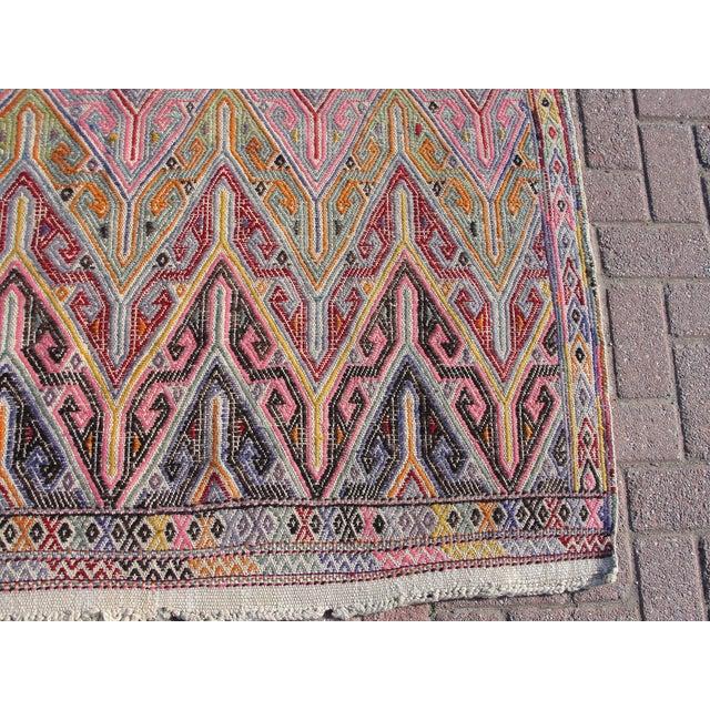 Vintage Turkish Kilim Rug - 5′3″ × 7′1″