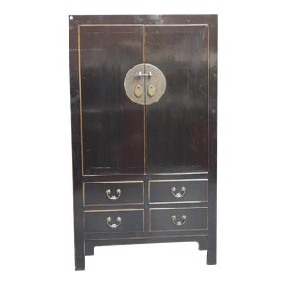 Chinese Converted Antique Wedding Cabinet