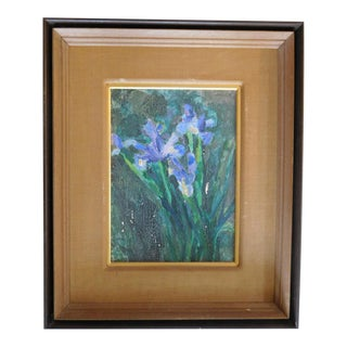 Japanese Iris Painting on Canvas