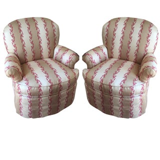 Century Furniture Striped Dylan Chairs - A Pair