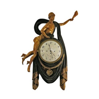 Hermes painted and gilt clock Vienna