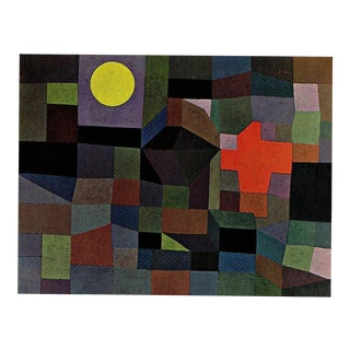 "Paul Klee Vintage 1967 Original Lithograph Print ""Fire at Full Moon"", 1933"