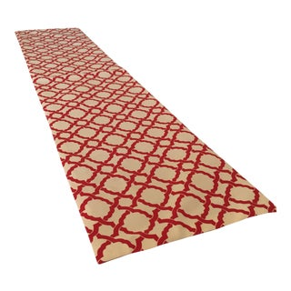 Red & White Modern Holiday Table Runner