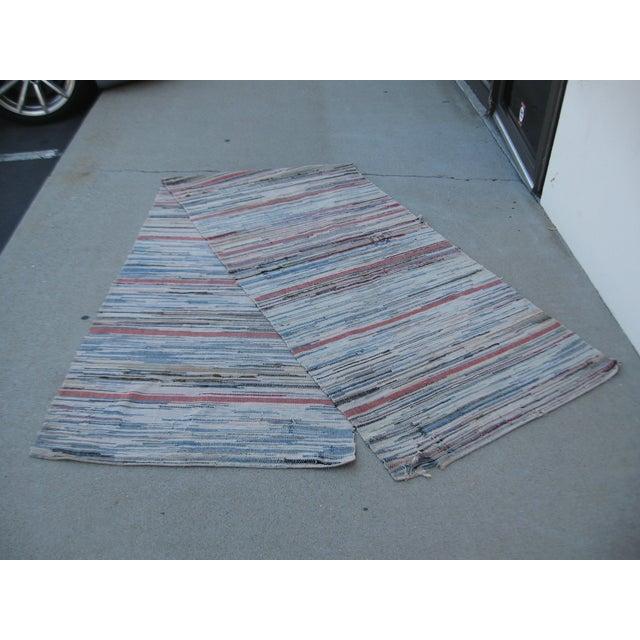 Americana Rag Rug Runner - 2′8″ × 10′4″ - Image 4 of 8