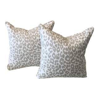 Leopard Fabric Pillows - A Pair