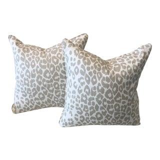 Schumacher Leopard Fabric Pillows - a Pair