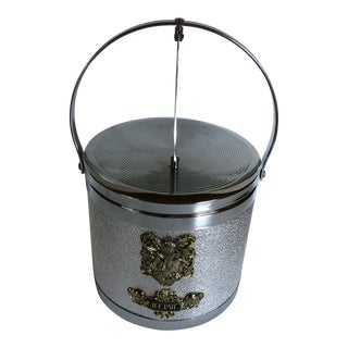 Hollywood Regency Ice Bucket & Tongs