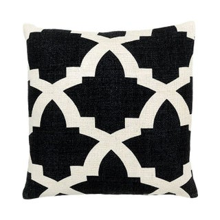 Bali Black & White Large Accent Pillow