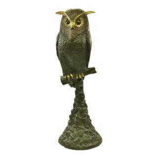 Owl Wildlife Bird Bronze Statue