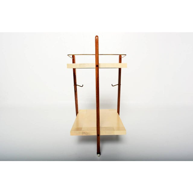 Mexican Modernist Goat Skin Service Cart - Image 7 of 10