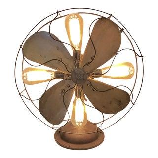 Repurposed Antique Fan Table Lamp