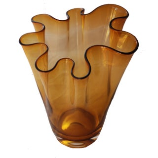 Murano Glass Fazzoletto Handkerchief Vase