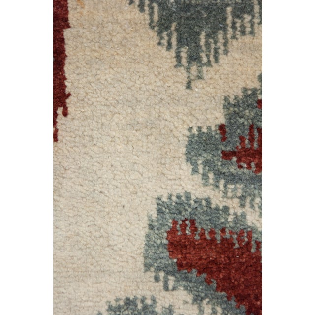 "New Ikat Hand Knotted Area Rug - 6'2"" X 9'2"" - Image 3 of 3"