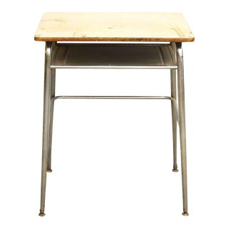 1960s Metal & Formica School Desk