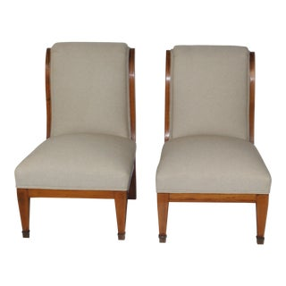 Inlay Biedermeier-Style Chairs - A Pair
