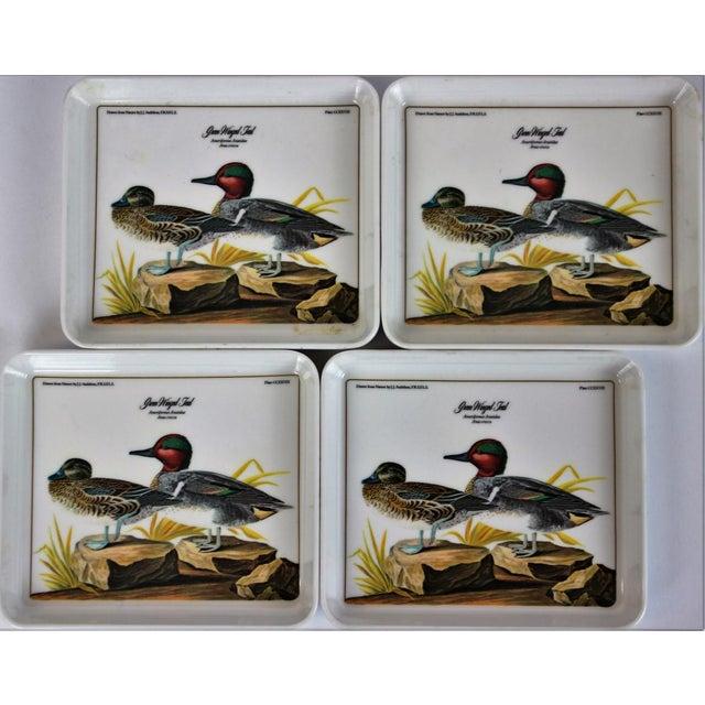 "John James Audubon ""Green Winged Teal"" Coasters - Set of 4 - Image 2 of 7"