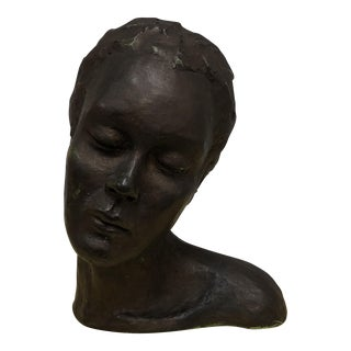 Mid-Century Female Bust Sculpture