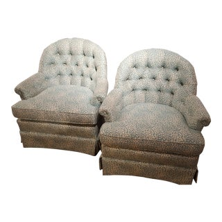 Contemporary Duralee Swivel Rockers - A Pair