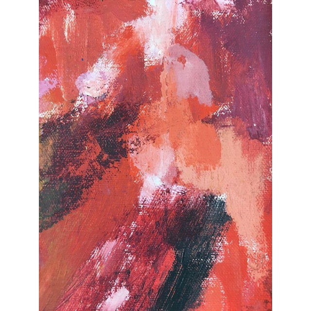 BT Wohl Mid-Century Abstract Oil Painting 1966 - Image 7 of 11
