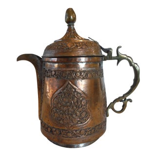 Antique Copper Middle Eastern Tea Pot