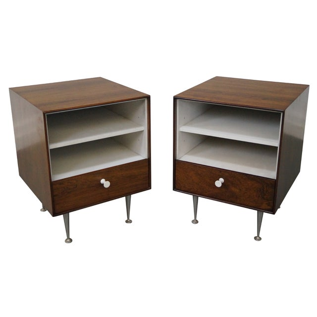 George Nelson Miller Rosewood Nightstands - Pair - Image 1 of 10