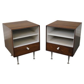 George Nelson Miller Rosewood Nightstands - Pair