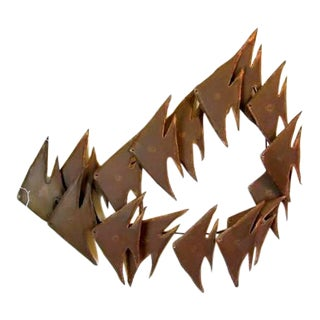 Jere Abstract Torch Cut Wall Sculpture