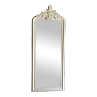 Restoration Hardware White Leaning Mirror