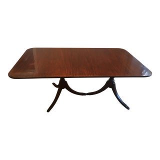 Inlaid Wood Dining Table