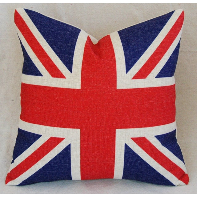 British Union Jack Linen Down/Feather Pillow - Image 3 of 5