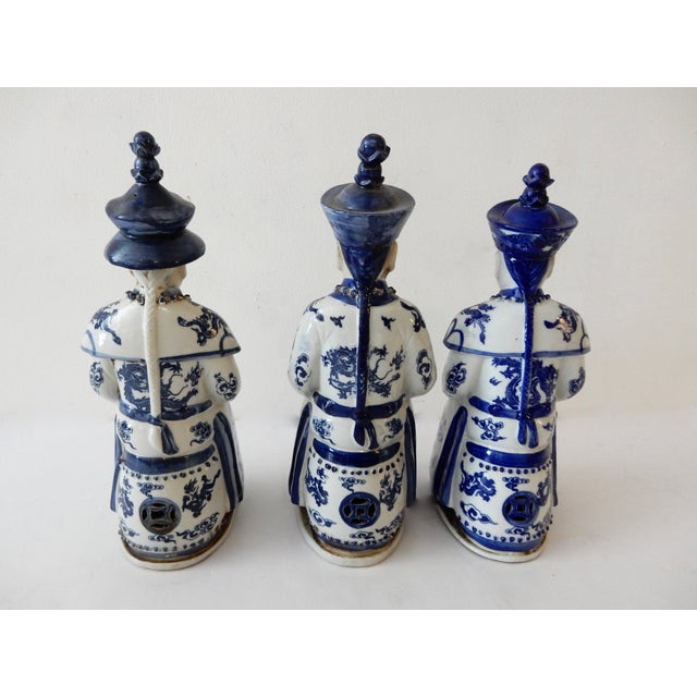 Blue and White Emperors Figures - Set of 3 - Image 5 of 6