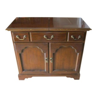 Drexel Heritage Solid Cherry Wood Cabinet, Adjustable