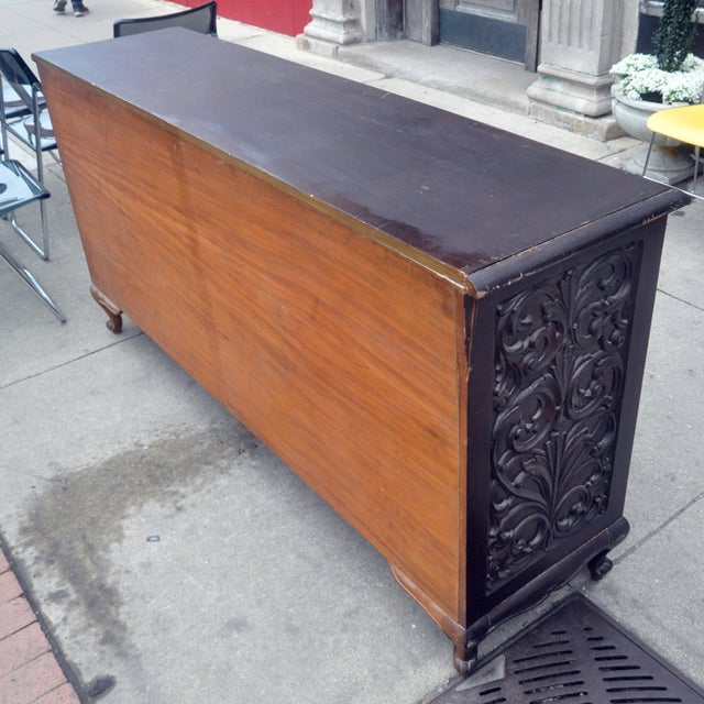 Image of Carved Wooden Credenza