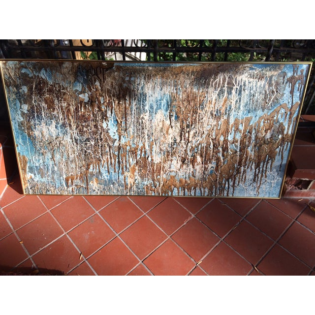 Image of Richard Tubbesing Drip Glaze Abstract Painting