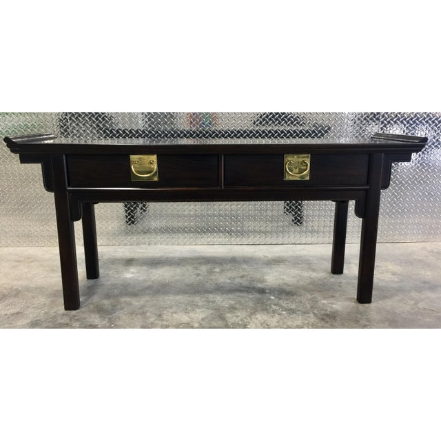 Century Chinoiserie Asian Style Console Table - Image 3 of 11