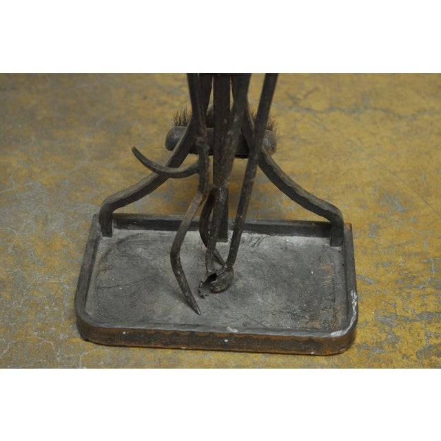 French Wrought Iron Fireplace Tool Set Chairish