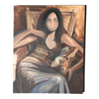Vintage Faceless Woman Painting