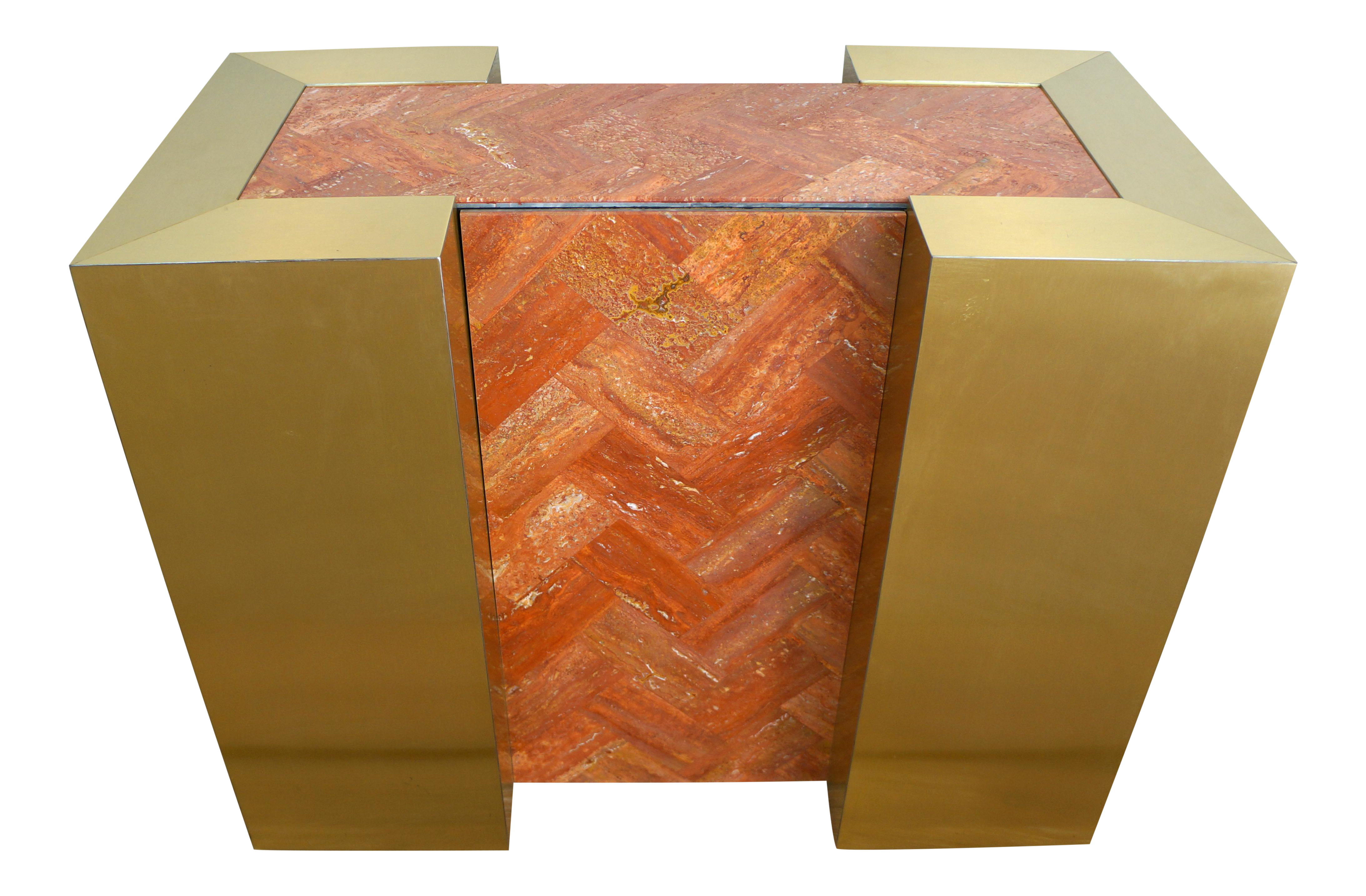 Vintage Tessellated Marble Amp Brass Dining Table Or Console