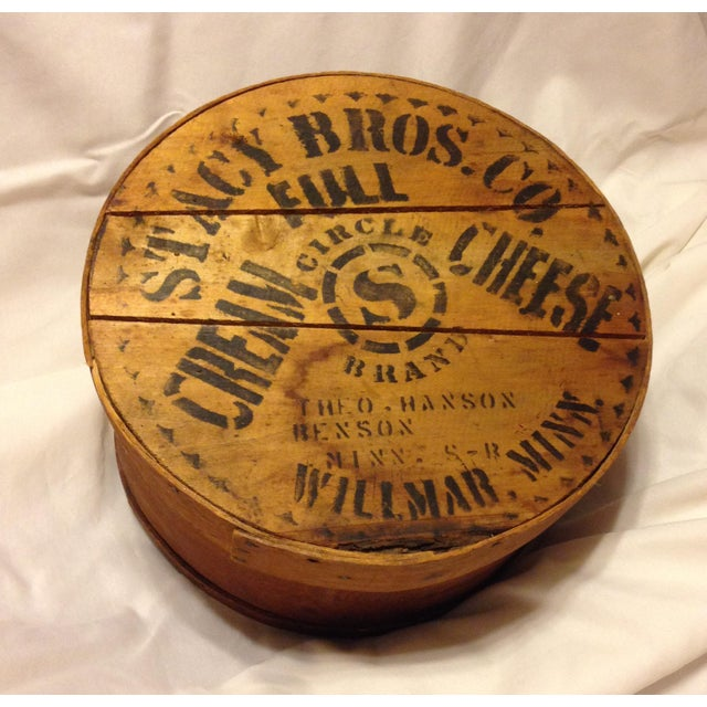 Old Wood Cheese Box From the Stacy Bros. Co. - Image 2 of 5