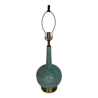 Mid-Century Turquoise Ceramic Lamp