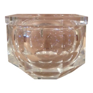 Alessandro Albrizzi Mid-Century Lucite Ice Bucket with Lid