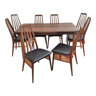 Danish Niels Kofoed Rosewood Dining Table & Chairs