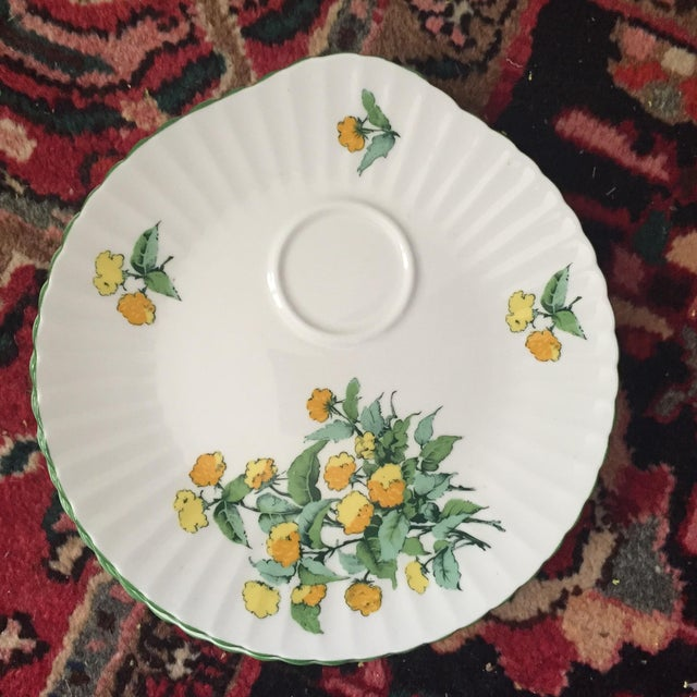 Staffordshire Cornwall Scalloped Teacup Dessert Plates - Set of 4 - Image 7 of 7
