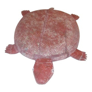 Large Carved Wood Turtle
