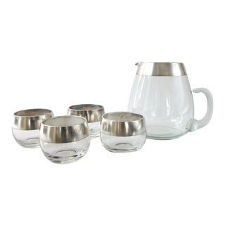 Dorothy Thorpe Pitcher and Glasses - Set of 4