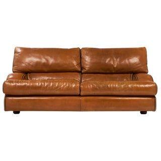 Vintage Baxter Italian Leather Sofa