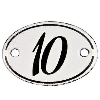French Enamel Hotel Number 10 Sign